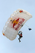 Travis Pastrana Base Jump in preparation for Nitro Circus Live