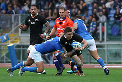 November 24, 2018 - Rome, Rome, Italy - Beauden Barrett and Leonardo Ghiraldini during the Test Match 2018 between Italy and New Zealand at Stadio Olimpico on November 24, 2018 in Rome, Italy. (Credit Image: © Emmanuele Ciancaglini/NurPhoto via ZUMA Press)