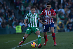 February 3, 2019 - Sevilla, Andalucia, Spain - Francis of Real Betis and Correa of Atletico de Madrid competes for the ball  during the LaLiga match between Real Betis vs Atletico de Madrid at the Estadio Benito Villamarin in Sevilla, Spain. (Credit Image: © Javier MontañO/Pacific Press via ZUMA Wire)