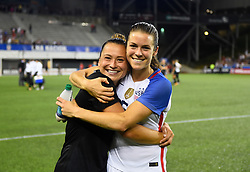 September 19, 2017 - Cincinnati, OH, USA - Cincinnati, OH - Tuesday September 19, 2017: Ali Riley, Kelley O'Hara during an International friendly match between the women's National teams of the United States (USA) and New Zealand (NZL) at Nippert Stadium. (Credit Image: © Brad Smith/ISIPhotos via ZUMA Wire)