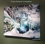 Incredible aluminum print of Frozen Rainbow!