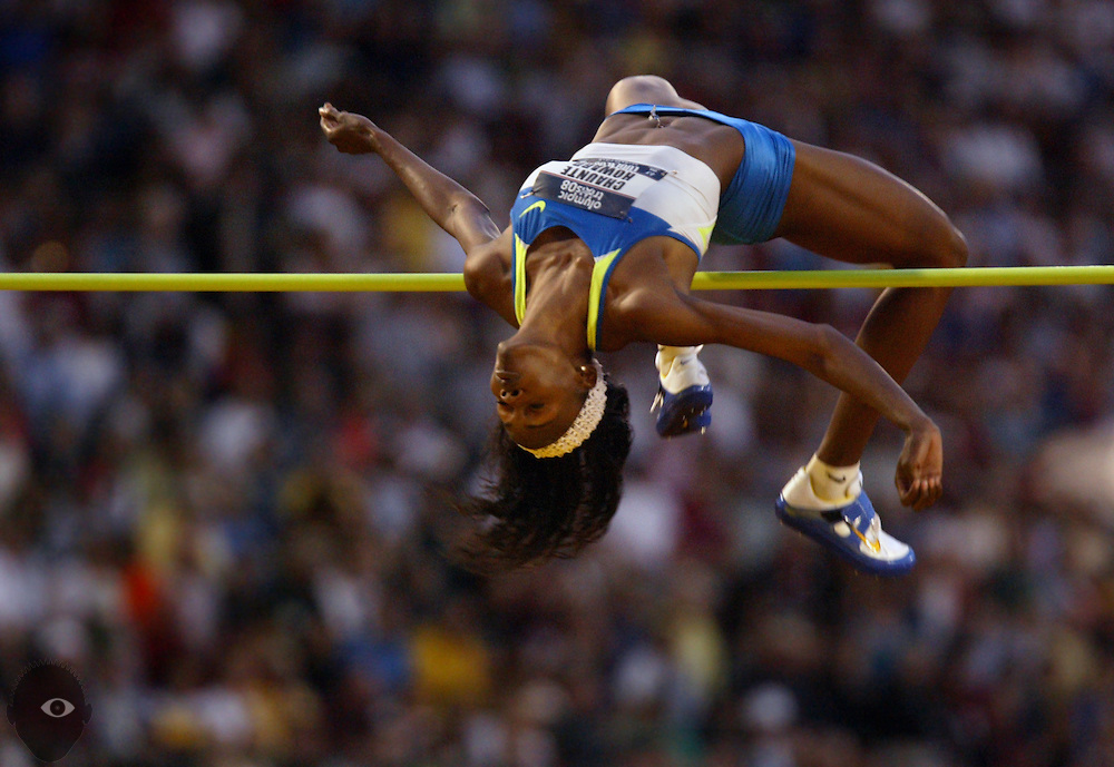 Chaunte Howard soars over the bar with flair as the crowd goes wild, she taking first and qualifying for Beijing in the women's high jump. The 2008 U.S. Olympic Trials continue from Hayward Field in Eugene, Oregon.