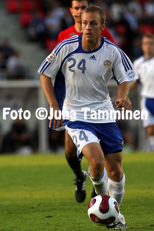 22.08.2007, Ratina Stadium, Tampere, Finland..UEFA European Championship 2008.Group A Qualifying Match Finland v Kazakhstan.Daniel Sj?lund - Finland.©Juha Tamminen.....ARK:k