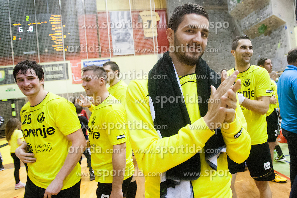 after handball match between RK Gorenje Velenje (SLO) and Permskie medvedi (RUS) in 3rd Qualification round of EHF Cup 2014/15, on November 29, 2014, Rdeca dvorana, Velenje, Slovenia. Photo by Urban Urbanc / Sportida