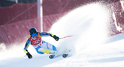 February 15, 2018 - Pyeongchang, South Korea - SARA HECTOR of Sweden competes in the Womens Giant Slalom event Thursday, February 15, 2018 at the Yongpyang Alpine Centerl at the Pyeongchang Winter Olympic Games.  Photo by Mark Reis, ZUMA Press/The Gazette (Credit Image: © Mark Reis via ZUMA Wire)