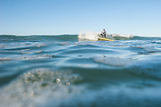 Joe Carberry paddlesurfing in Southern California.