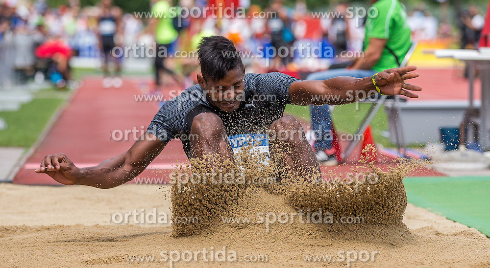 28.05.2016, Moeslestadion, Goetzis, AUT, 42. Hypo Meeting Goetzis 2016, Zehnkampf der Herren, Weitsprung, im Bild Yordani Garcia (CUB) // Yordani Garcia of Cuba during the Long jump event of the Decathlon competition at the 42th Hypo Meeting at the Moeslestadion in Goetzis, Austria on 2016/05/28. EXPA Pictures © 2016, PhotoCredit: EXPA/ Peter Rinderer