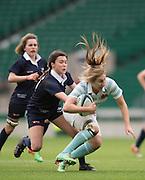 Twickenham, United Kingdom. Fullback, Alice MIDDLETON running at the Oxford line, 2015 Women's Varsity Match, Oxford vs Cambridge, RFU Twickenham Stadium, England.<br /> <br /> Thursday  10/12/2015<br /> <br /> [Mandatory Credit. Peter SPURRIER/Intersport Images].