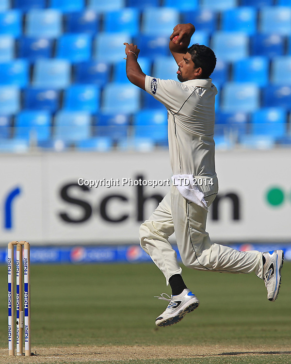 Pakistan vs New Zealand, 19 November 2014 <br /> Ish Sodhi bowls on the third day of second test in Dubai