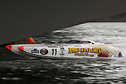 Powerboat racing under Auckland harbour bridge. 10/5/2008