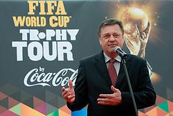 Mayor of city Ljubljana Zoran Jankovic at VIP reception of FIFA World Cup Trophy Tour by Coca-Cola, on March 29, 2010, in BTC City, Ljubljana, Slovenia.  (Photo by Vid Ponikvar / Sportida)