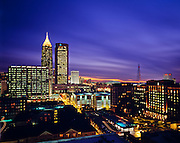 The Atlanta skyline looking south from the Spire building, located at 7th and Peachtree.