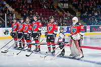 KELOWNA, CANADA - DECEMBER 3: The pepsi save on foods player of the game lines up with the Kelowna Rockets against the Brandon Wheat Kings on December 3, 2016 at Prospera Place in Kelowna, British Columbia, Canada.  (Photo by Marissa Baecker/Shoot the Breeze)  *** Local Caption ***