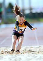20 Aug 2016:  Aisling Kelly, from Wexford.  Girls Long Jump U14.  2016 Community Games National Festival 2016.  Athlone Institute of Technology, Athlone, Co. Westmeath. Picture: Caroline Quinn
