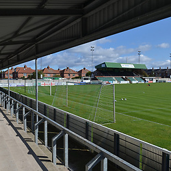 TELFORD COPYRIGHT MIKE SHERIDAN A general view of Croft Park during the National League North fixture between Blyth Spartans and AFC Telford United at Croft Park on Saturday, September 28, 2019<br /> <br /> Picture credit: Mike Sheridan<br /> <br /> MS201920-023