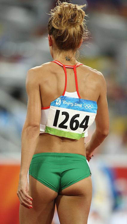 Beijing 2008 Olympic Games-Day 2 - Evening-August 16, 2008. Photo : Claus Andersen *** Ivet Lalova, 100m *** Bejing 2008