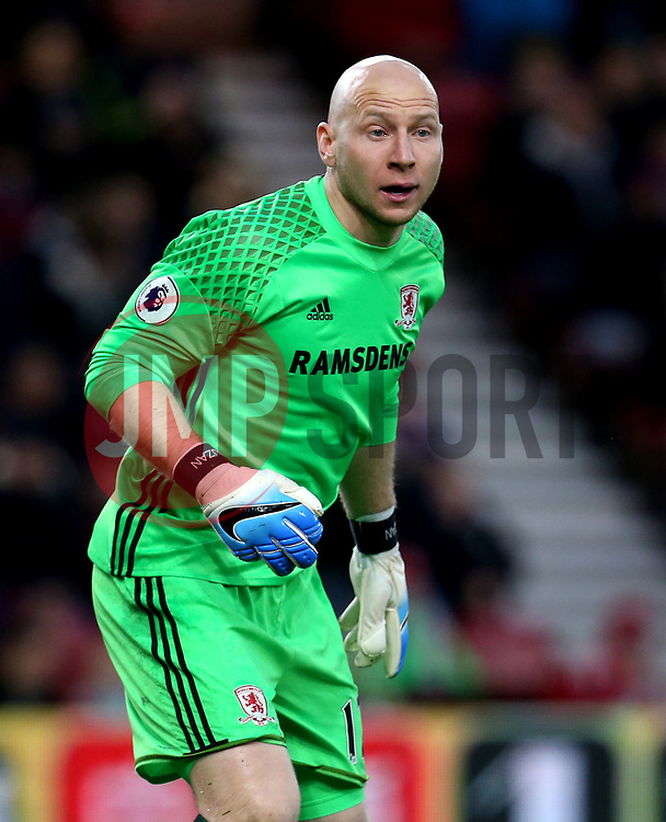 Brad Guzan of Middlesbrough - Mandatory by-line: Robbie Stephenson/JMP - 26/04/2017 - FOOTBALL - Riverside Stadium - Middlesbrough, England - Middlesbrough v Sunderland - Premier League