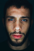UFC flyweight Matheus Nicolau of Brazil poses for a portrait at Jackson Wink MMA in Albuquerque, New Mexico on June 10, 2016.