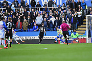 Goal - Jon Dadi Boovarsson (23) of Reading scores a goal to give a 1-0 lead to the home team during the EFL Sky Bet Championship match between Reading and Leeds United at the Madejski Stadium, Reading, England on 10 March 2018. Picture by Graham Hunt.