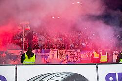 29.05.2015, Holstein Stadion, Kiel, GER, 2. FBL, Holstein Kiel vs TSV 1860 Muenchen, Relegation, Hinspiel, im Bild Muenchens Fans zuenden waehrend des Spiels Pyrotechnik im Block. // during the German 2nd Bundesliga relegation 1st Leg Match between Holstein Kiel and TSV 1860 Munich at the Holstein Stadion in Kiel, Germany on 2015/05/29. EXPA Pictures © 2015, PhotoCredit: EXPA/ Eibner-Pressefoto/ KOENIG<br /> <br /> *****ATTENTION - OUT of GER*****