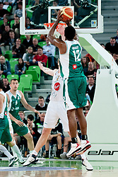 Christopher Booker of Krka during second semi-final match of Basketball NLB League at Final four tournament between KK Union Olimpija and Krka (SLO), on April 19, 2011 at SRC Stozice, Ljubljana, Slovenia. (Photo By Matic Klansek Velej / Sportida.com)