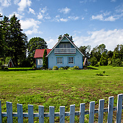 The tipical estonian architecture of Kihnu Island