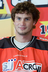 Gregor Poloncic, member of HK Acroni Jesenice ice-hockey team for season 2008/2009 at official photo shooting in Arena Podmezaklja, Jesenice, on September 24, 2008. (Photo by Vid Ponikvar / Sportal Images)