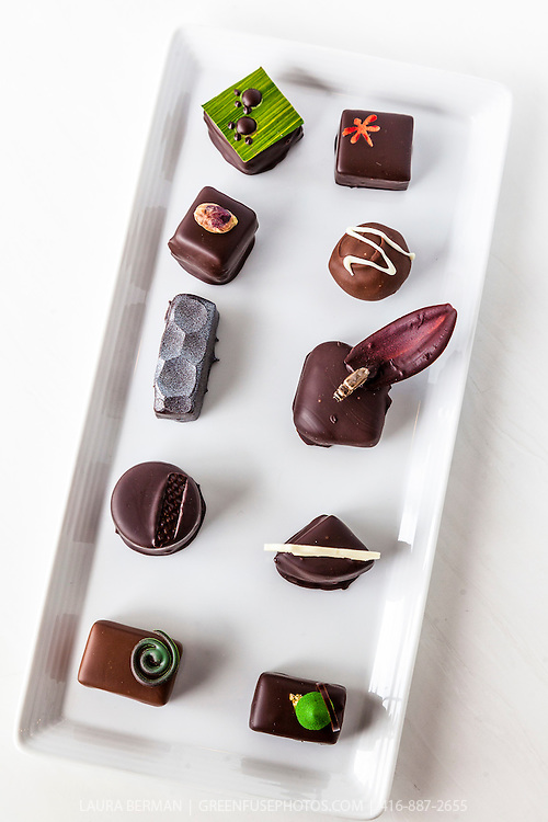 Hand-dipped Bons bons at the Canadian Intercollegiate Chocolate Competition April 13- 14, 2013