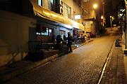 street  scene in the old city Sultanahmet Istanbul Turkey