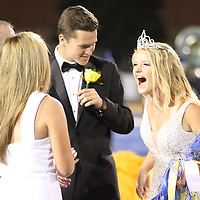 Tupelo High SChool senior maid Mary Collins West reacts after being crowned homecoming queen Friday night.