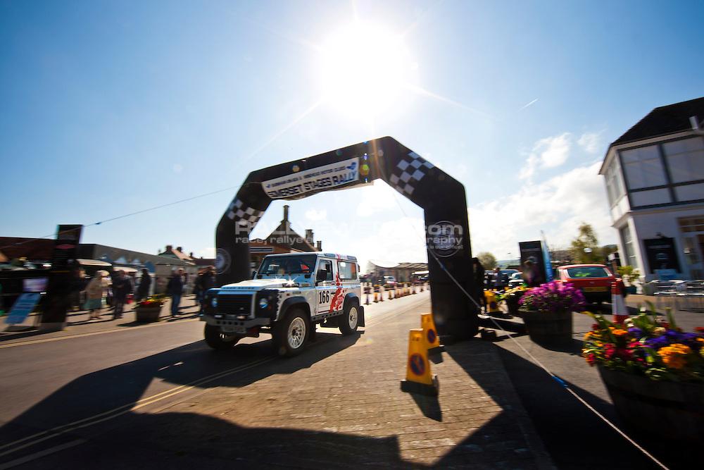 2015 Somerset Stages. <br /> <br /> Land Rover Defender Challenge. <br /> <br /> Somerset, England. <br /> <br /> 18th April 2015. <br /> <br /> Photo: Drew Gibson.