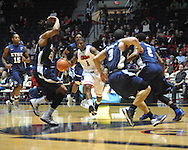 """Ole Miss' Martavious Newby (1) vs. East Tennessee State at the C.M. """"Tad"""" Smith Coliseum in Oxford, Miss. on Saturday, December 14, 2012. Mississippi won 77-55 to improve to 7-1. (AP Photo/Oxford Eagle, Bruce Newman).."""