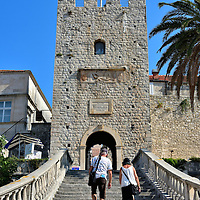 Staircase to Revelin Tower in Korčula, Croatia<br />