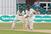 Nathan Rimmington batting during the Specsavers County Champ Div 2 match between Leicestershire County Cricket Club and Durham County Cricket Club at the Fischer County Ground, Grace Road, Leicester, United Kingdom on 9 July 2019.