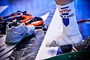 Marco Spissu<br /> Banco di Sardegna Dinamo Sassari - Germani Basket Leonessa Brescia<br /> Legabasket Serie A LBA PosteMobile 2017/2018<br /> Sassari, 08/04/2018<br /> Foto L.Canu / Ciamillo-Castoria