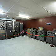 The Spare Radio Station room in the basement of Reunification Palace (the former Presidential Palace) in downtown Ho Chi Minh City (Saigon), Vietnam. The palace was used as the command headquarters of South Vietnam during the Vietnam War.