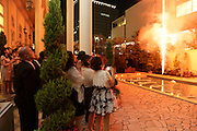 fireworks at a wedding celebration Japan