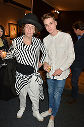 Left to right, PHILIP SALON and LIAM CONNOR at the PAD London 2015 VIP evening held in the PAD Pavilion, Berkeley Square, London on 12th October 2015.