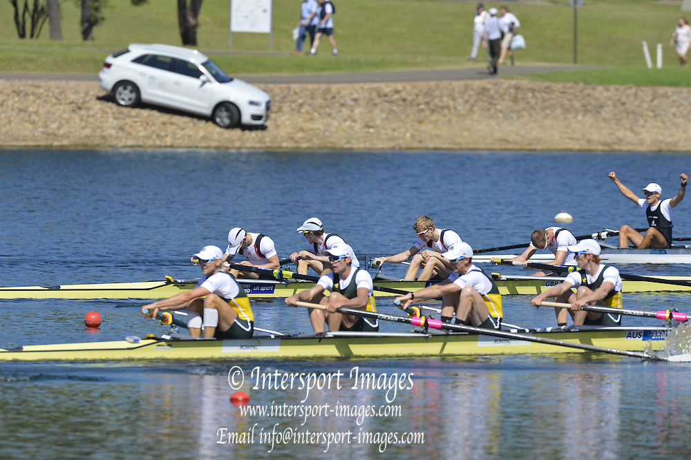 Sydney, Australia.  GBR LM4-, Silver Medalist, Bow, Pete CHAMBERS, Jonathan CLEGG, Chris BODDY and Chris BARTLEY. World Cup I. and  Sydney International Rowing Regatta. Sydney International Rowing Centre, Penrith Lakes, NSW. Sunday   24/03/2013 [Mandatory Credit. Peter Spurrier/Intersport Images]..