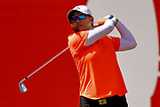 Mina Harigae tees off from the 1st during the Final day of the Ricoh Women's British Open golf tournament at Royal Lytham and St Annes Golf Club, Lytham Saint Annes, United Kingdom on 5 August 2018. Picture by Simon Davies.