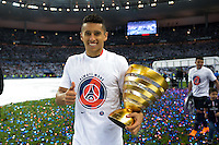 Joie PSG - Marquinhos - 30.05.2015 - Auxerre / Paris Saint Germain - Finale Coupe de France<br />