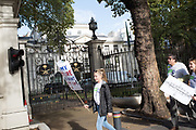 Demonstrators going past the Saudi Embassy in Mayfair. March for Peoples vote..London. 20 October 2018