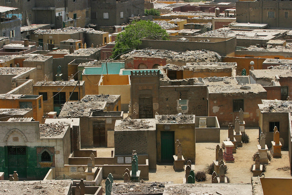 City of the dead in the old part of Islamic Cairo, Egypt.