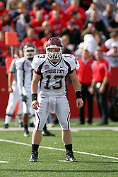 18 October 2008: Cody Kirby gets the call from the sideline in a game which the Missouri State Bears came from behind to beat the Illinois State Redbirds 34-28 in front of 13,292 fans at Hancock Stadium on Illinois State Universities campus in Normal Illinois