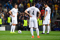 Deception PSG - Edinson CAVANI / Zlatan IBRAHIMOVIC - 21.04.2015 - Barcelone / Paris Saint Germain - 1/4Finale Retour Champions League<br />