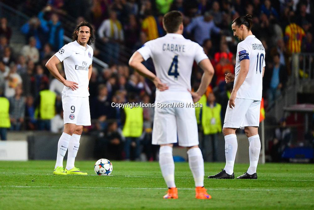 Deception PSG - Edinson CAVANI / Zlatan IBRAHIMOVIC - 21.04.2015 - Barcelone / Paris Saint Germain - 1/4Finale Retour Champions League<br />Photo : Dave Winter / Icon Sport