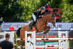 RIJKENS Janine (GER), CENITO 4<br /> Münster - Turnier der Sieger 2019<br /> Preis des EINRICHTUNGSHAUS OSTERMANN, WITTEN<br /> CSI4* - Int. Jumping competition  (1.45 m) - <br /> 1. Qualifikation Mittlere Tour<br /> Medium Tour<br /> 02. August 2019<br /> © www.sportfotos-lafrentz.de/Stefan Lafrentz