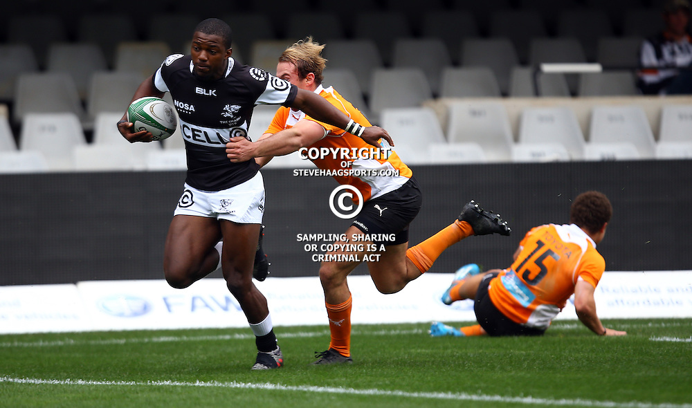 DURBAN, SOUTH AFRICA - SEPTEMBER 10: Mfundo Ndlovu of the Cell C Sharks Under 19's during the Currie Cup U19 match between the Sharks and Free State at Growthpoint Kings Park on September 10, 2016 in Durban, South Africa. (Photo by Steve Haag/Gallo Images)