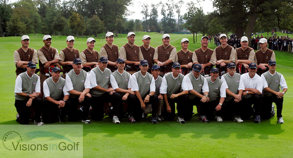 The USA Team Photocall with caddys<br /> at the Ryder Cup Matches 2006, K Club, Ireland, 060921<br /> Picture Credit: Mark Newcombe / visionsingolf.com