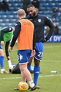 Bury Midfielder, Stephen Dawson (8) and Bury Defender, Nathan Cameron (27)  during the EFL Sky Bet League 1 match between Bury and Fleetwood Town at the JD Stadium, Bury, England on 30 December 2017. Photo by Mark Pollitt.